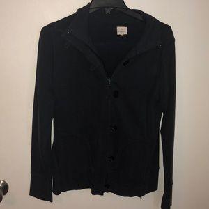 Dark blue banana republic zip up sweatshirt